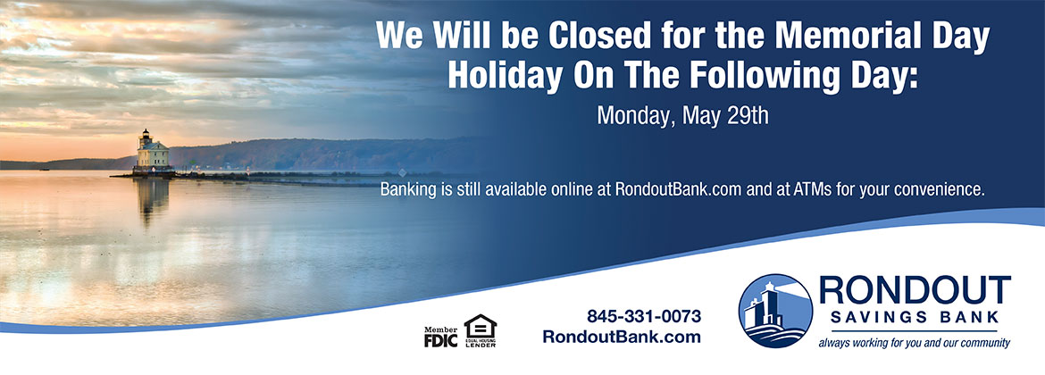 We will be closed for the memorial day holiday on monday may 29th