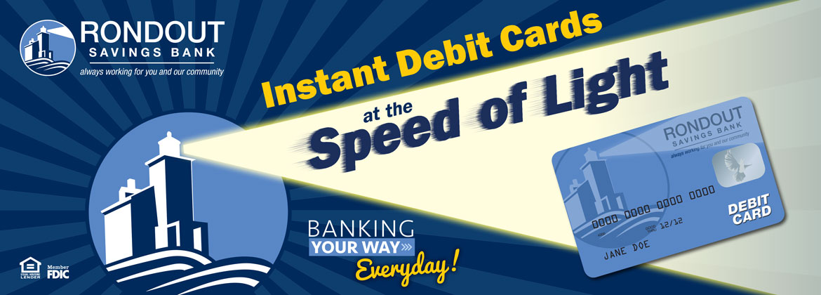 instant debit cards at the speed of light
