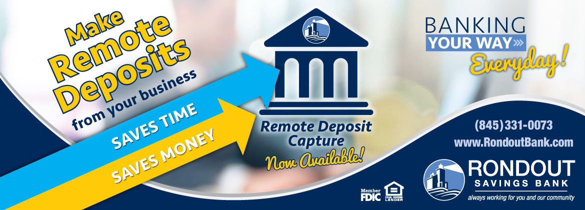 Make remote deposits from your business.