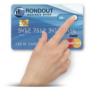 hand on debit card