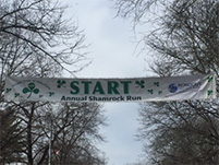 Shamrock Run sign